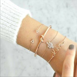 Darling bohemian 4 gold bracelet set.